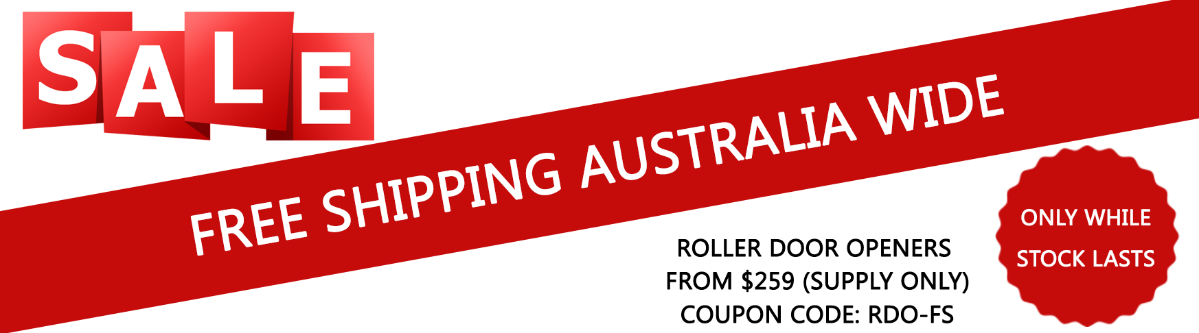 Roller garage door openers special offer- free shipping Australia