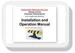 parking barrier manual instruction