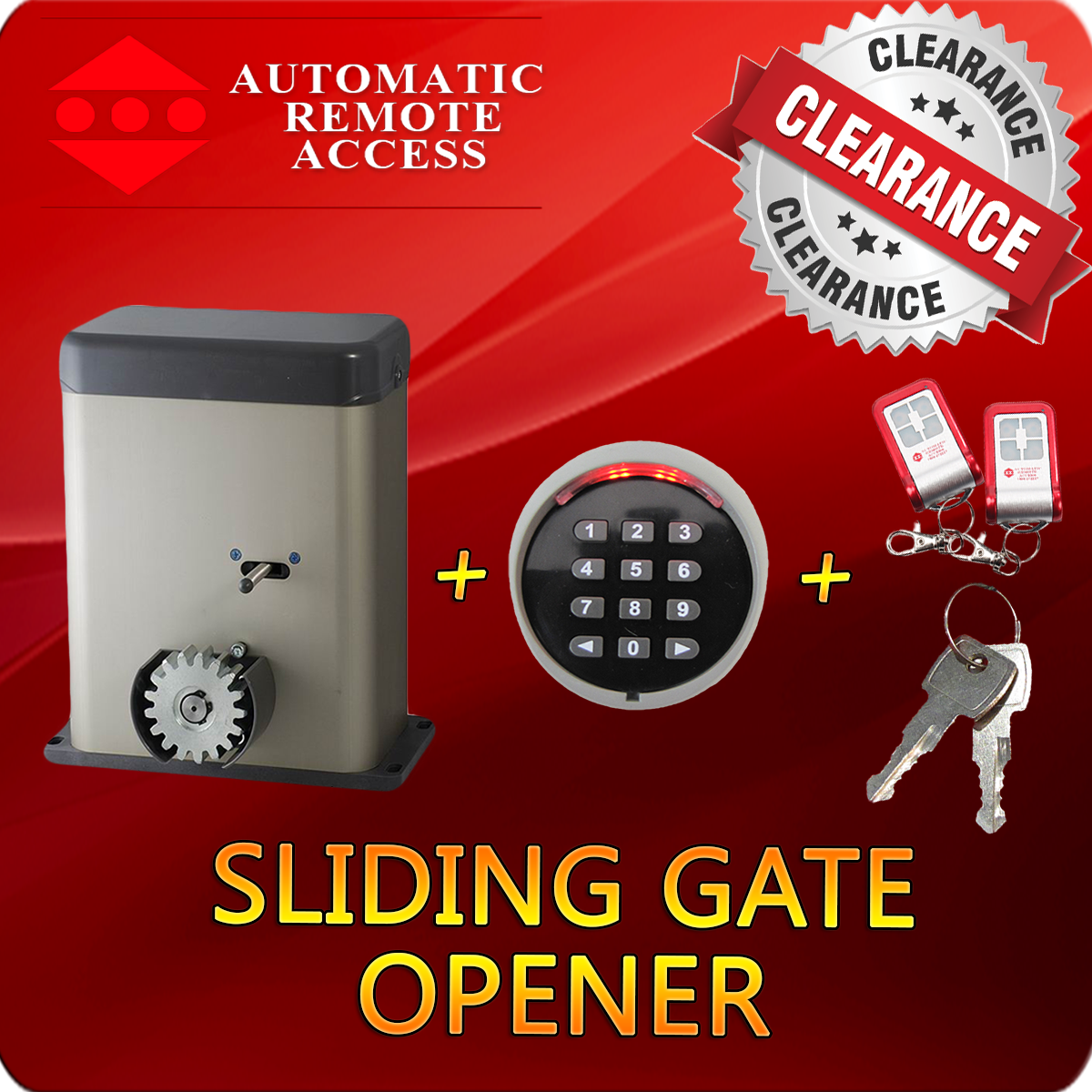 Py500ac Sliding Gate Motor Opener Keypad Entry 2 X