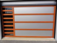 Composite panel insert custom garage door