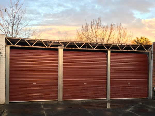 3 x A Series Manor Red Roller Doors with Manual Lock