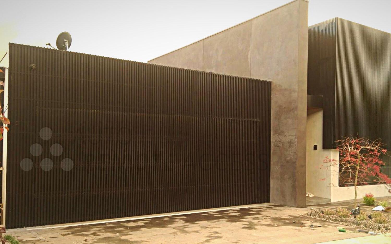 aluminum garage door installed by araccess